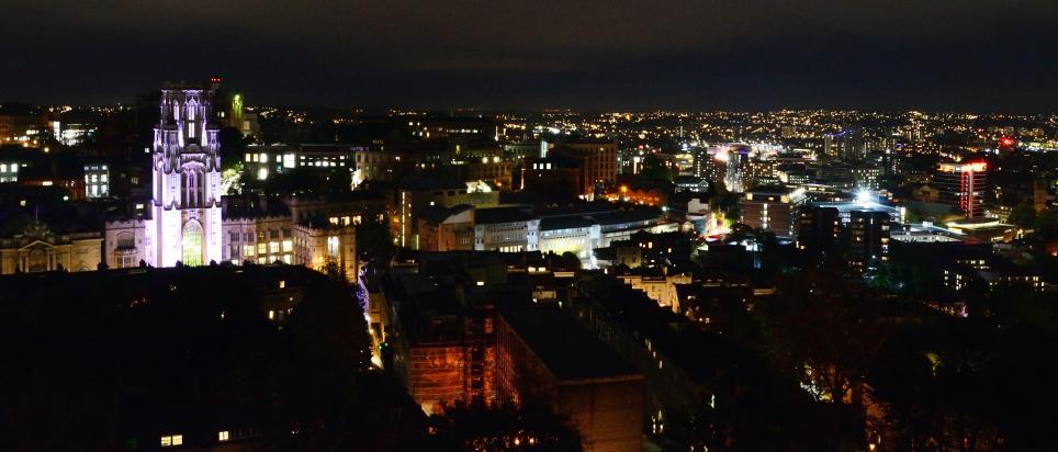 Bristol bei Nacht